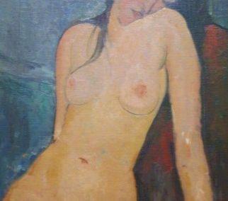 A.MODIGLIANI-Nu feminin-1916
