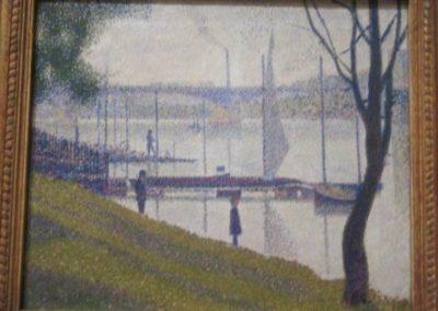 G.SEURAT- Le Pont de Courbevoie-1886