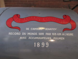 Musee de la Voiture -LA JAMAIS CONTENTE détail