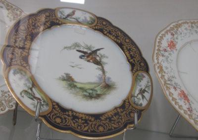Assiette motif Duplessis d'un des services du Palais de l'Elysée