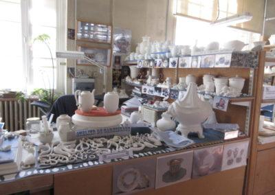 Dans l'atelier- Pièces prêtes à être décorées