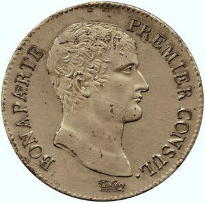 Pièce de 5 francs, l'an XI (1802-1803), Paris.