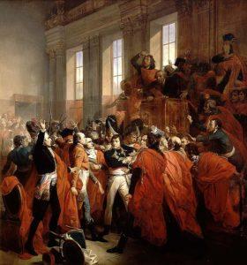 Le général Bonaparte au Conseil des Cinq-Cents, à Saint-Cloud. 10 novembre 1799.