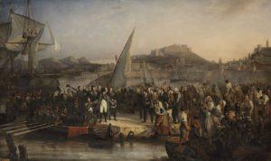 Napoléon quittant l'île d'Elbe, le 26 février 1815.