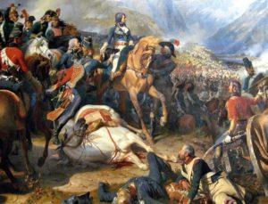 Napoléon Bonaparte à la bataille de Rivoli par Philippoteaux, 1844.