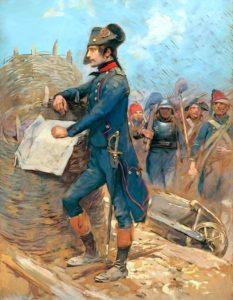 Bonaparte pendant le siège de Toulon.