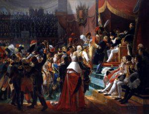 Première distribution des décorations de la Légion d'honneur dans l'église des Invalides, le 14 juillet 1804, par Jean-Baptiste Debret.