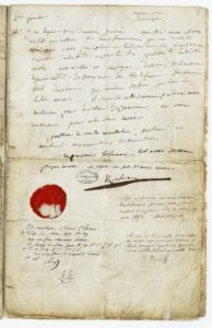 Testament de Napoléon Ier, conservé aux Archives nationales