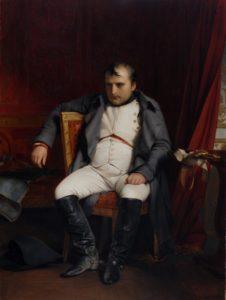 Napoléon à Fontainebleau le 31 mars 1814 par Paul Delaroche, 1840.