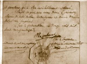 Première abdication, 12 avril 1814, conservée aux Archives nationales.