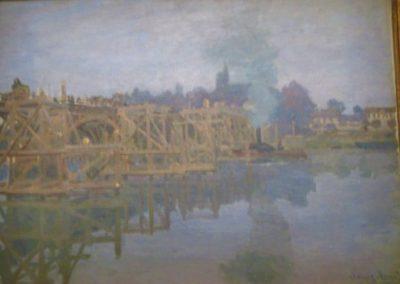 C.MONET-Argenteuil, le pont en réparation-1872