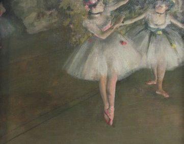 E.DEGAS- Deux danseuses en scenes-1874