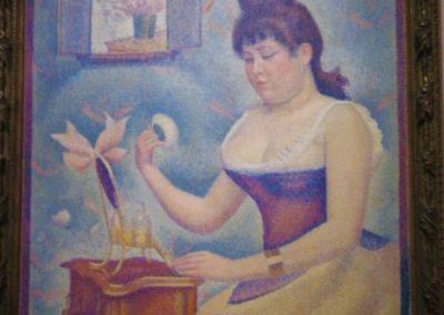 G. SEURAT-Jeune Femme se poudrant-1889-