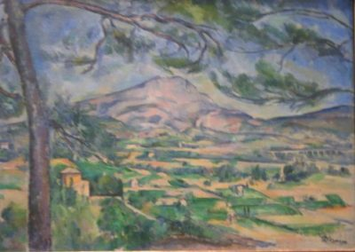 P.CEZANNE-La montagne Sainte-Victoire au grand pin- 1887