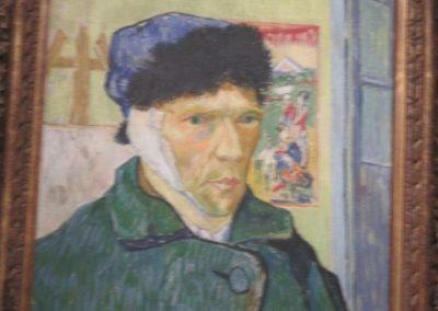 V. VAN GOGH- Autoportrait a loreille bandee-1889