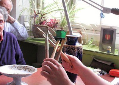 Le brunissage- Les outils à bout d'agate et d'hématite