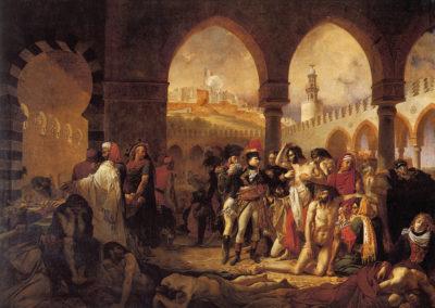 Bonaparte visitant les pestiférés de Jaffa, Antoine-Jean Gros (1804).