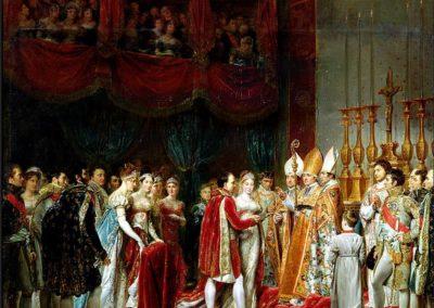 Mariage de Napoléon et Marie-Louise (cérémonie religieuse du 2 avril 1810 tenue dans le Salon carré du Louvre), par Georges Rouget.
